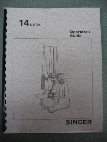 Singer Serger Manual Ebay
