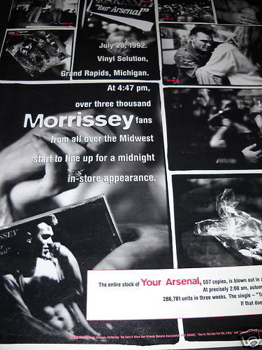 MORRISSEY Fans From The Midwest 1992 collage style PROMO POSTER AD mint cond