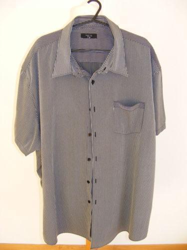 Mens Blue Striped Dress Shirt