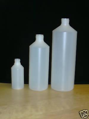 420x 250ml Empty Natural HDPE Plastic Bottle Screw Cap