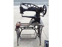 Industrial Singer 29k Sewing Machine with Treddle Table Leather Patcher Cobbler Walking Foot