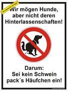 Schild Hundehaufen