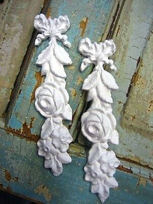 SHABBY & CHIC ROSE DROPS ( 2 PC ) FURNITURE APPLIQUES / ONLAYS