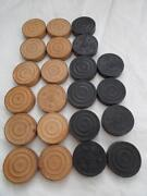 Vintage Wooden Checkers