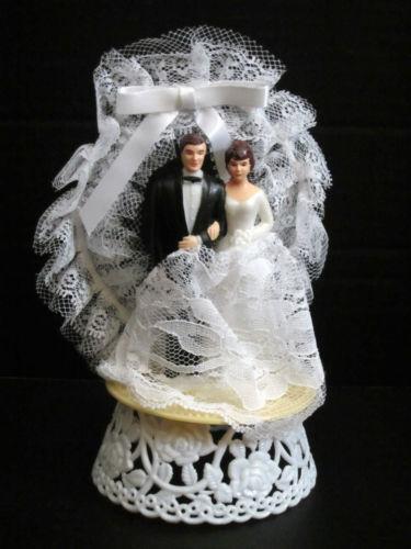 Plastic Wedding Bands >> 1960s Wedding Cake Topper   eBay