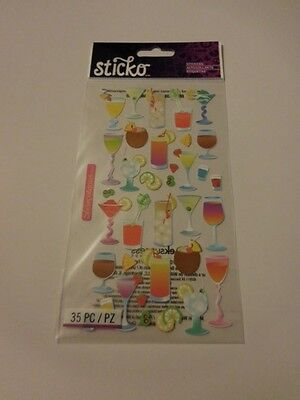 Fruit Craft (Scrapbooking Crafts Stickers Sticko Cocktails Drinks Fruit Wine Shots)