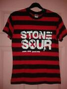 Red and Black Striped T Shirt