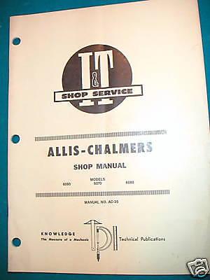 Allis-chalmers 6060 6070 6080 Tr I T Shop Manual