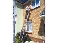 Young man 100 Ladder lightweight strong and durable. 2 sections