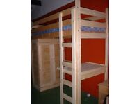 Solid Pine High Sleeper 3 foot loft bed