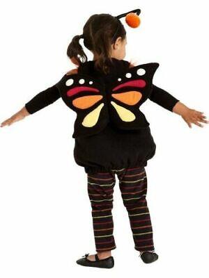 Butterfly Costume 2t (OLD NAVY BUTTERFLY BLACK ORANGE RUFFLE PLUSH VEST BODY HALLOWEEN COSTUME 2T)