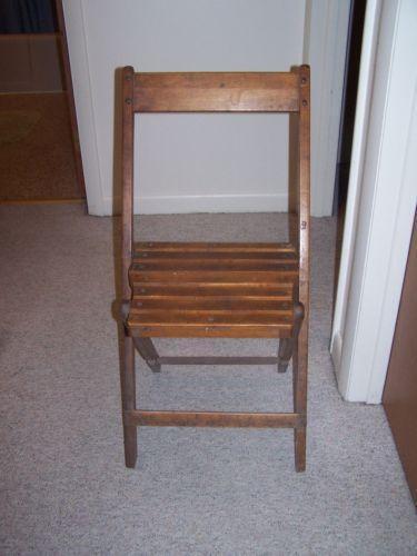 Vintage Wood Folding Chair Ebay