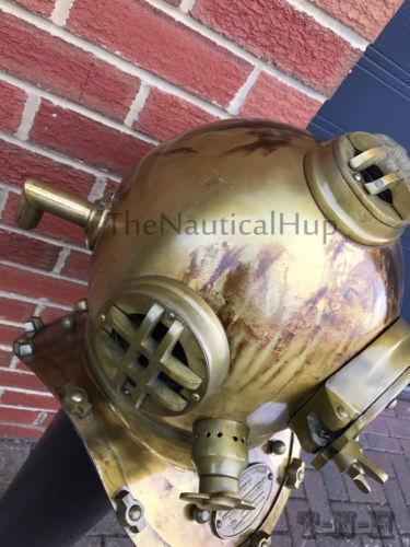 Antique scuba SCA Divers Diving Helmet US Navy Mark V Deep Sea Marine Diver