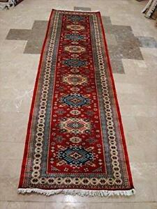 Rectangle Area Carpet Shirvan Kuba Fine Kazak Veg Dyed Wool Hand Knotted Runner Rug (9.9 x 2.9)'