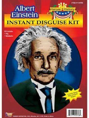 Herren Erwachsene Helden Geschichte Albert Einstein Kostüm - Geschichte Helden Kostüm