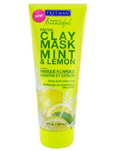 Freeman Feeling Beautiful Facial Clay Mask, Mint & Lemon 6 fl oz