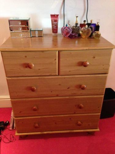 Solid wood chest of drawers ebay