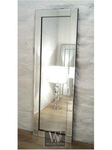 Bevelled mirror ebay - Full length bathroom wall mirror ...