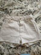 White Levi Shorts