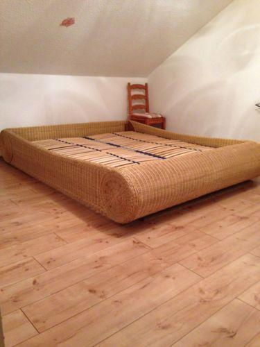 rattanbett 180x200 ebay. Black Bedroom Furniture Sets. Home Design Ideas