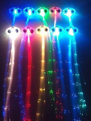 Light-up Multi Color Fiber Optic Led Hair Lights (14