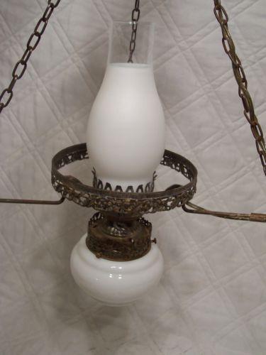 Vintage Hanging Hurricane Lamp Ebay