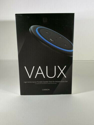NEW VAUX - High Performance Portable Speaker Dock Amazon Echo Dot 2nd Gen Carbon