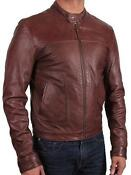Mens Real Leather Jacket Small