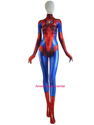 2017 MJ Jamie Spider Costume Mary Jane Girl Female Spiderman Cosplay Suit - Female Costumes 2017