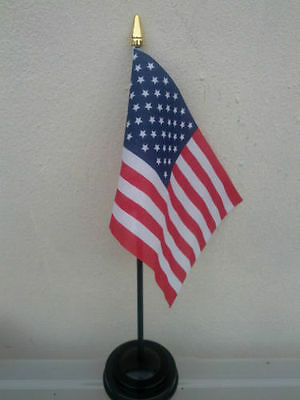 Table Desk Top Flag USA American United States of America Polyester Without Base