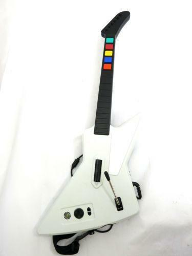 playing guitar hero with controller