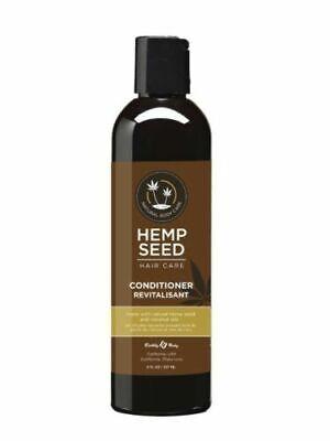 Earthly Body Hemp Seed Conditioner 8 oz All Hair Types Moisturizing Nourishing  Hemp Nourishing Conditioner
