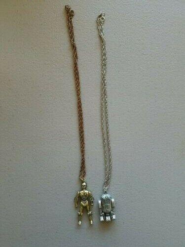 Vintage Star Wars R2D2 & C-3PO Necklace
