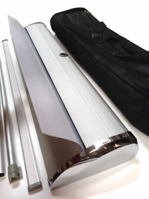 New Retractable Banner Stand - 33.5 X 79 Deluxe Trade Show Sign Banner Display