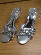 Silver Sandals Size 6