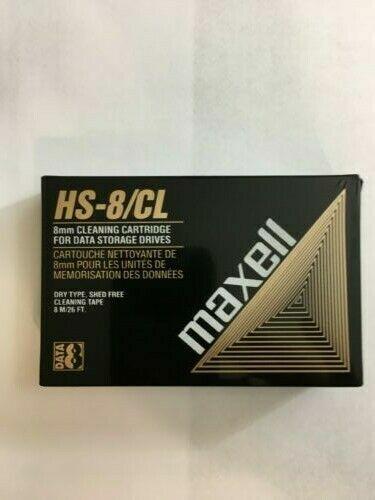 MAXELL 8MM VIDEO8 HI8 D8 DIGITAL8 DATA8 HEAD CLEANING CLEANER CLEAN TAPE NEW BIN