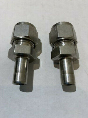 2 - Swagelok Stainless Tube Reducer Fitting 38 Tube X 38 Ss-600-r-6
