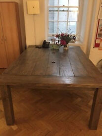 office meeting table board room real wood reclaimed wood style heavy wood 260cm dining table