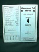 Illinois Central Timetable