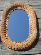 White Wicker Mirror