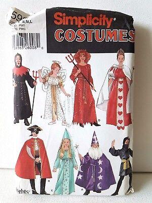 Monk Costume Pattern (Queen Wizard Ninja Monk Angel Devil Pirate Child Costume Pattern Sz S M L )