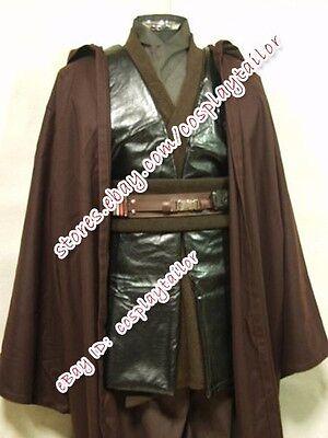 Star Wars Cosplay Anakin Skywalker Brown Party Linen Suit Male Costume Halloween - Anakin Halloween Costume