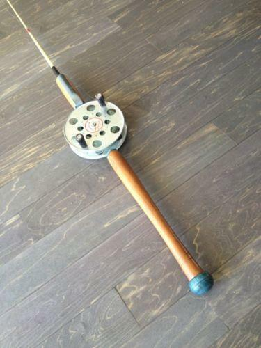 Antique fishing rod and reel ebay for Old fishing rods