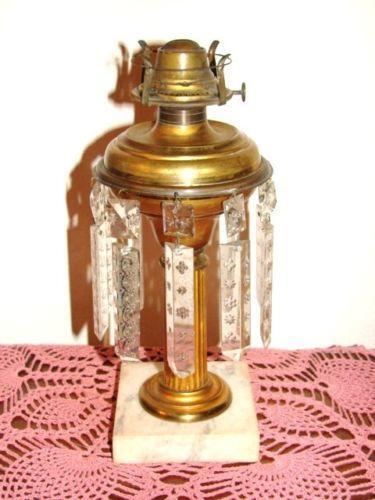 Antique Marble Lamp Base Ebay