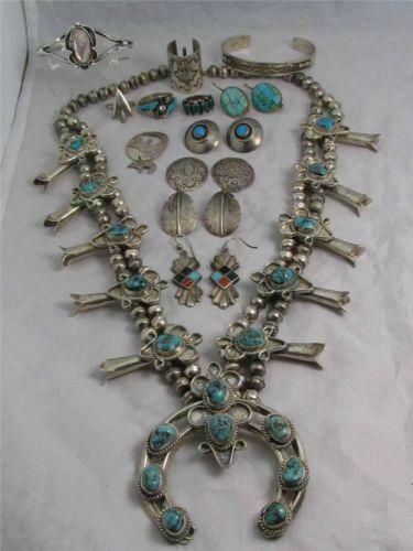 Native american jewelry lot ebay for How to make american indian jewelry