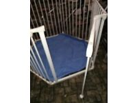Munchkin fully adjustable versatile metal baby pet playpen white with gate and blanket