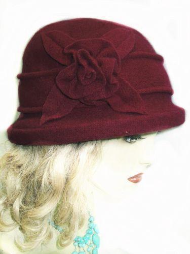 Womens Burgundy Hat Ebay