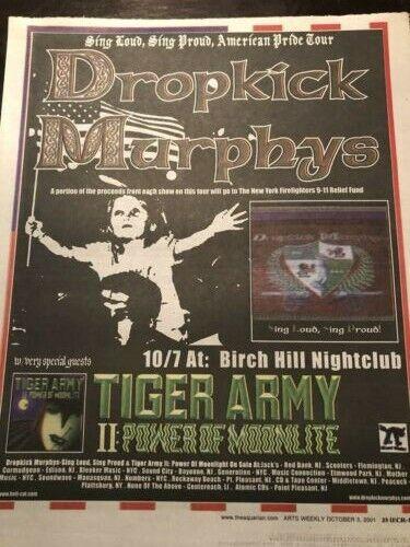 Dropkick Murphys 2pc Newspaper Concert Ads NJ