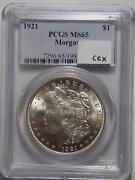 1921 Morgan Silver Dollar MS65