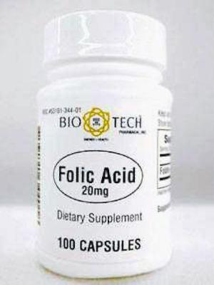 Bio Tech  Folic Acid 20 Mg 100 Caps